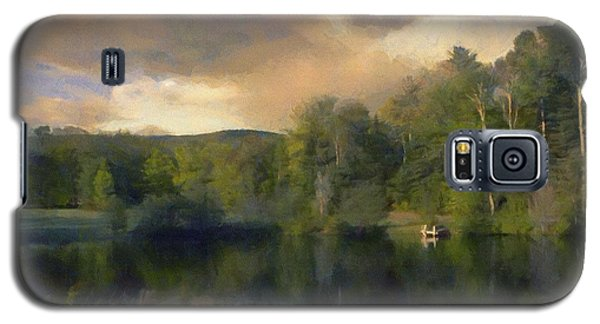 Galaxy S5 Case featuring the painting Vermont Morning Reflection by Jeff Kolker