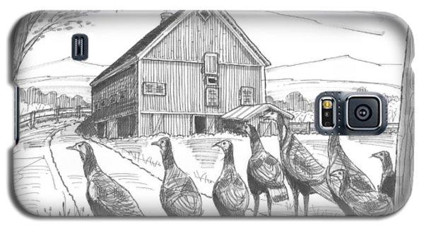 Vermont Wild Turkeys Galaxy S5 Case