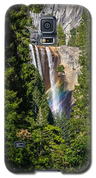 Galaxy S5 Case featuring the photograph Vernal Falls Rainbow by Mike Lee