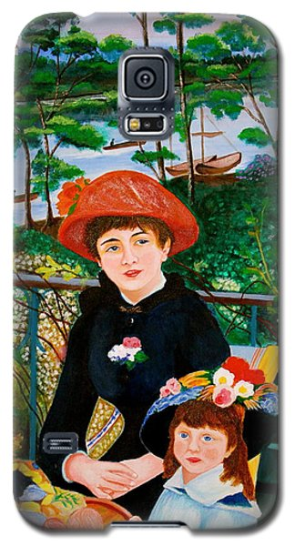 Galaxy S5 Case featuring the painting Version Of Renoir's Two Sisters On The Terrace by Cyril Maza