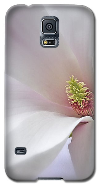Galaxy S5 Case featuring the photograph Vertical White Flower Magnolia Spring Blossom Floral Fine Art Photograph by Artecco Fine Art Photography