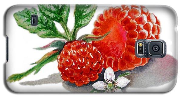 Artz Vitamins A Very Happy Raspberry Galaxy S5 Case by Irina Sztukowski