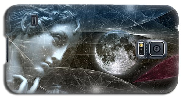 Galaxy S5 Case featuring the digital art Vestal Moon by Rosa Cobos