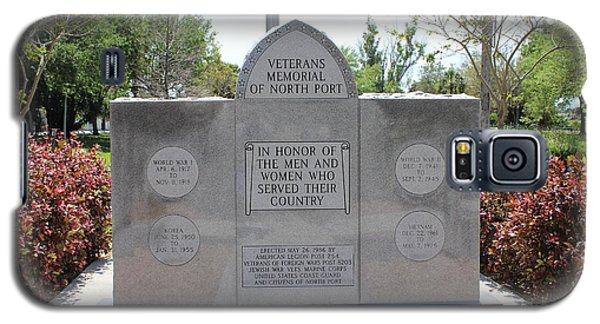 Galaxy S5 Case featuring the photograph Veterans Memorial by John Mathews