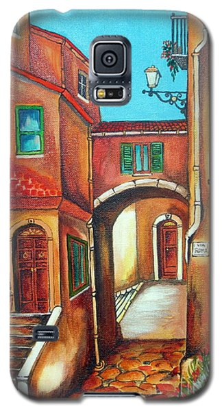 Via Roma In Tuscany Village Galaxy S5 Case by Roberto Gagliardi