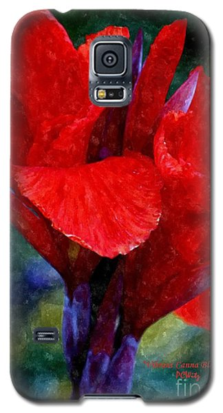 Vibrant Canna Bloom Galaxy S5 Case