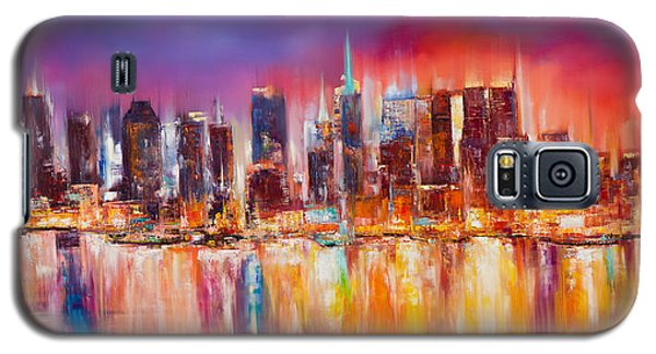Broadway Galaxy S5 Case - Vibrant New York City Skyline by Manit