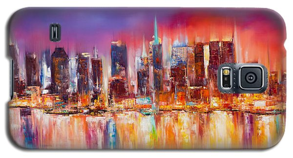 Vibrant New York City Skyline Galaxy S5 Case by Manit