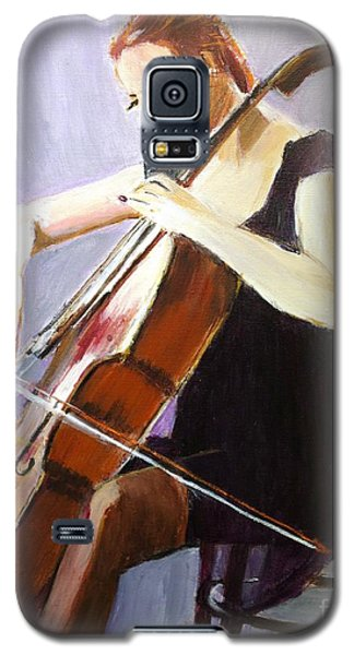 Galaxy S5 Case featuring the painting Vibrato by Judy Kay