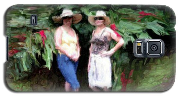Galaxy S5 Case featuring the painting Victoria And Friend by Bruce Nutting