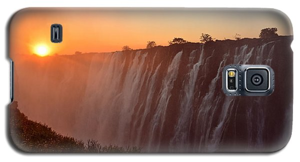 Victoria Falls At Sunset Galaxy S5 Case by Jeff at JSJ Photography