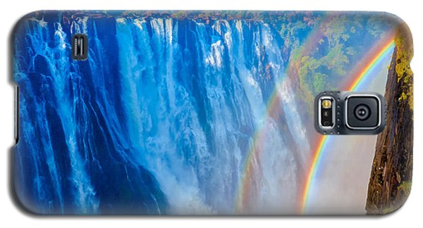 Victoria Falls Double Rainbow Galaxy S5 Case by Jeff at JSJ Photography
