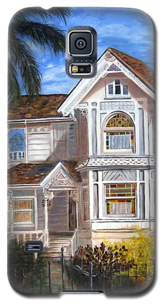 Galaxy S5 Case featuring the painting Victorian House by LaVonne Hand