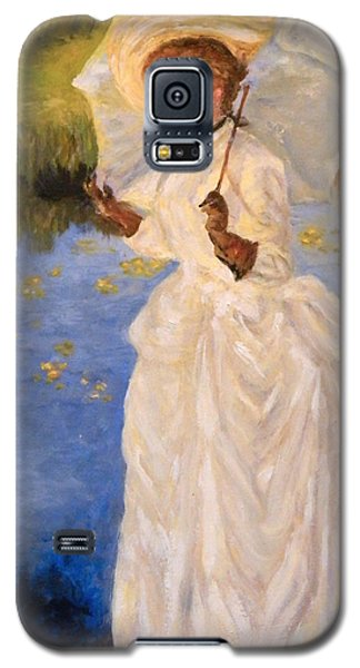 Galaxy S5 Case featuring the painting Victorian Lady by Sandra Nardone
