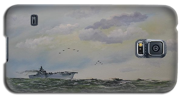 Galaxy S5 Case featuring the painting Victory At Sea by Ken Ahlering