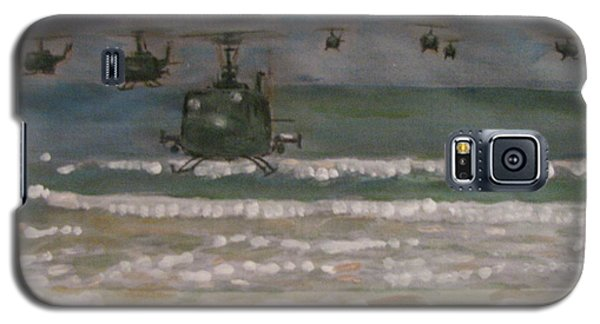 Galaxy S5 Case featuring the painting Vietnam Apocalypse Now by Vikram Singh