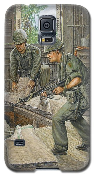 Galaxy S5 Case featuring the painting Vietnam Tunnels by Bob  George