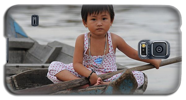 Vietnamese Girl On Lake Tonle Sap Galaxy S5 Case