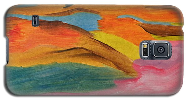 Galaxy S5 Case featuring the painting View From Above by Meryl Goudey