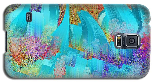View From Central Park Abstract Painting Galaxy S5 Case by Judy Filarecki