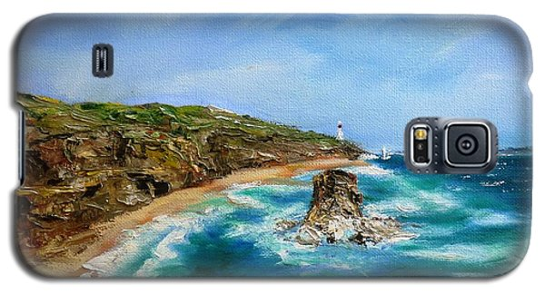 Galaxy S5 Case featuring the painting View From Great Ocean Road - Original Sold by Therese Alcorn