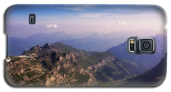 Galaxy S5 Case featuring the photograph View From Schilthorn by Wade Aiken