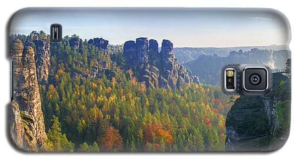 View From The Bastei Bridge In The Saxon Switzerland Galaxy S5 Case
