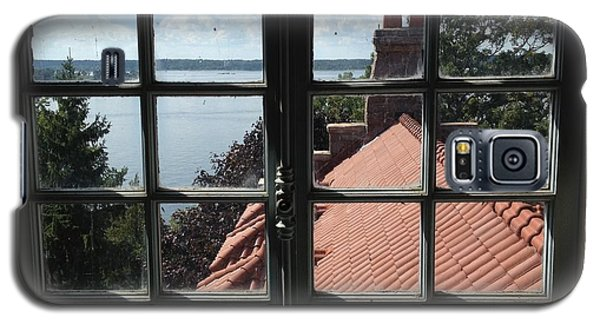 Galaxy S5 Case featuring the photograph View From The Castle Window by Alan Lakin