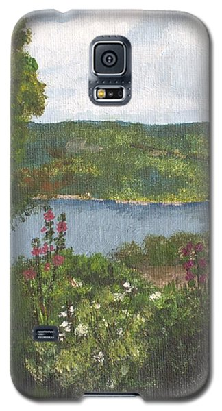 Galaxy S5 Case featuring the painting View From The Garden by Cynthia Morgan