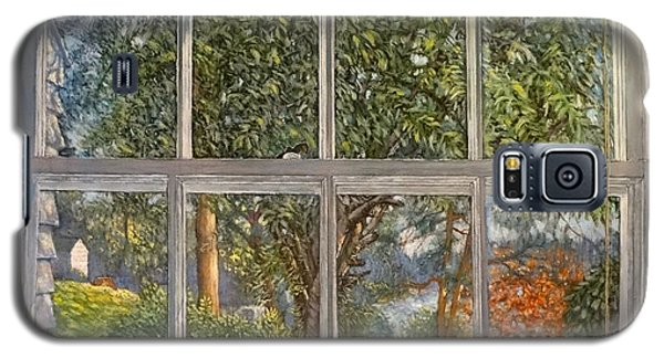 Galaxy S5 Case featuring the painting View From The Nest by Charles Munn