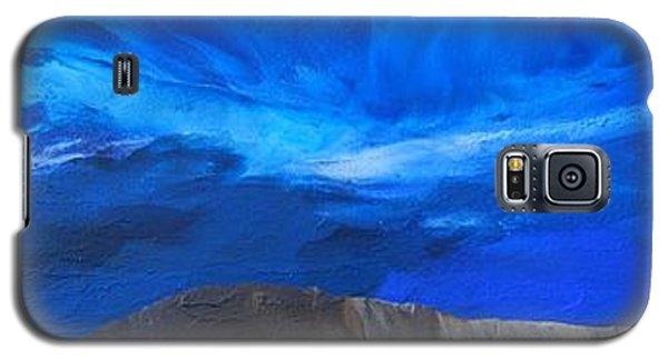 Galaxy S5 Case featuring the painting View From The Ridge by Linda Bailey