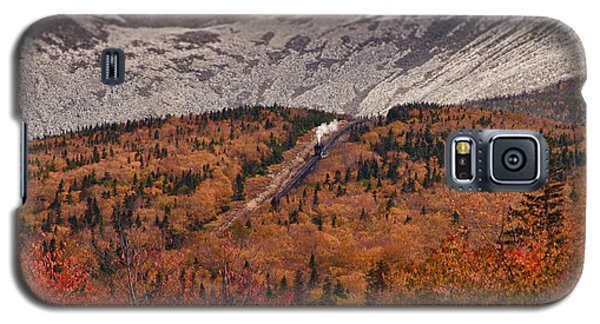 View Of Autumn Foliage From The Mount Washington Cog Railway Train Galaxy S5 Case