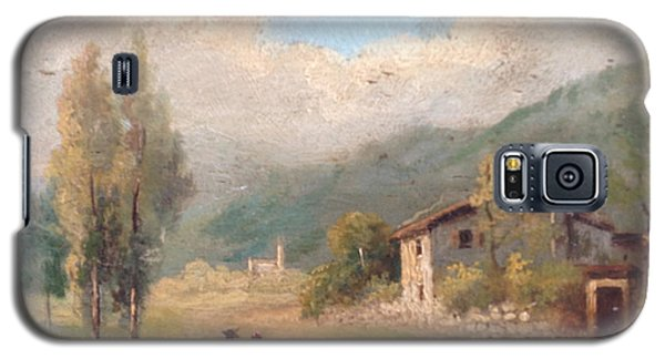 Galaxy S5 Case featuring the painting View Of Countryside by Egidio Graziani