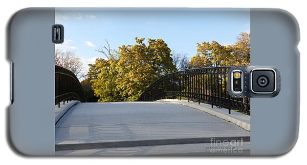 View Of Fall Trees From Footbridge - M Landscapes Fall Collection No. Lf21 Galaxy S5 Case