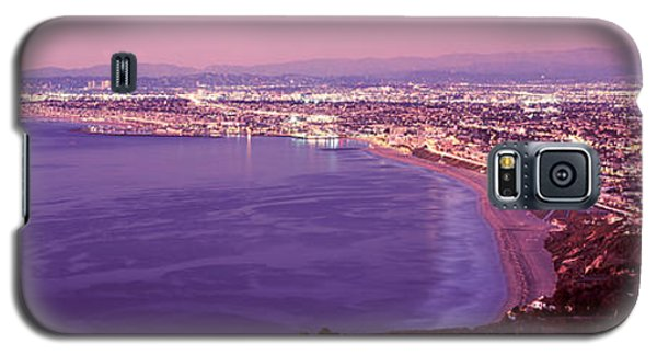 Venice Beach Galaxy S5 Case - View Of Los Angeles Downtown by Panoramic Images