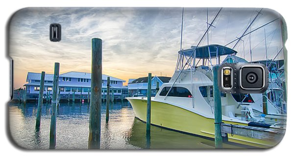 View Of Sportfishing Boats At Marina Galaxy S5 Case