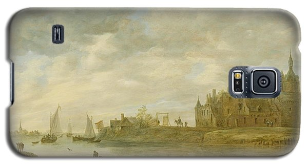 Castle Galaxy S5 Case - View Of The Castle Of Wijk At Duurstede by Jan van Goyen