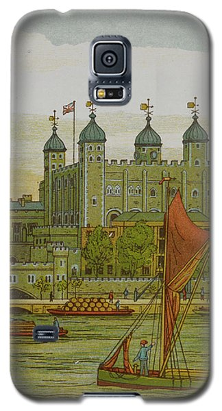 Tower Of London Galaxy S5 Case - View Of The Tower Of London by British Library