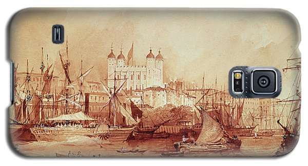 View Of The Tower Of London Galaxy S5 Case by William Parrott