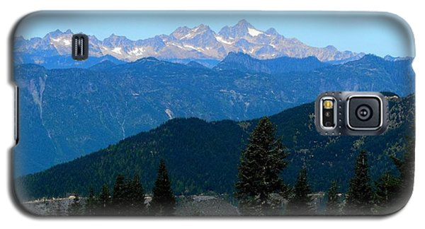 View Of Twin Sisters From Sauk Mountain Galaxy S5 Case by Karen Molenaar Terrell