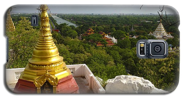 Galaxy S5 Case featuring the photograph View Over Ancient City Of Mandalay Aungmyaythazan From Mandalay Hill Mandalay Burma by Ralph A  Ledergerber-Photography