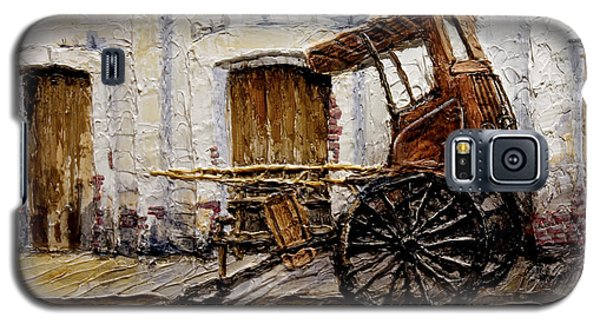 Galaxy S5 Case featuring the painting Vigan Carriage 1 by Joey Agbayani