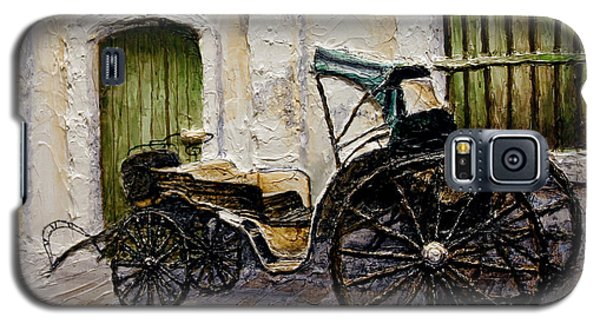 Galaxy S5 Case featuring the painting Vigan Carriage 2 by Joey Agbayani