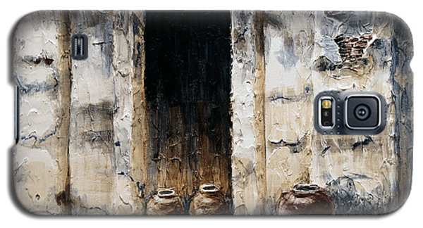 Galaxy S5 Case featuring the painting Vigan Door by Joey Agbayani