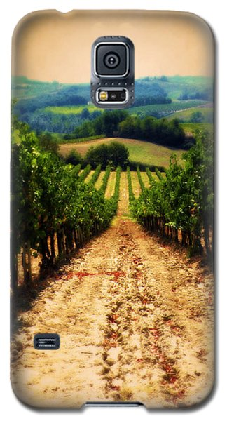 Galaxy S5 Case featuring the photograph Vigneto Toscana by Micki Findlay