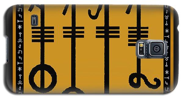Galaxy S5 Case featuring the digital art Viking Sleepthorn Spell by Vagabond Folk Art - Virginia Vivier