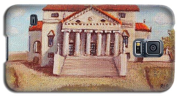 Galaxy S5 Case featuring the painting Villa Capra La Rotunda by Rita Brown