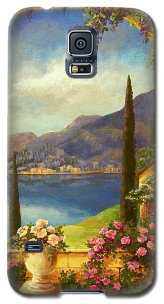 Galaxy S5 Case featuring the painting Villa Rosa by Evie Cook
