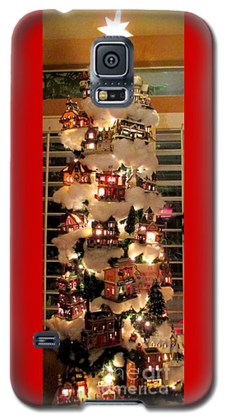 Village Christmas Tree Galaxy S5 Case by Randall Weidner
