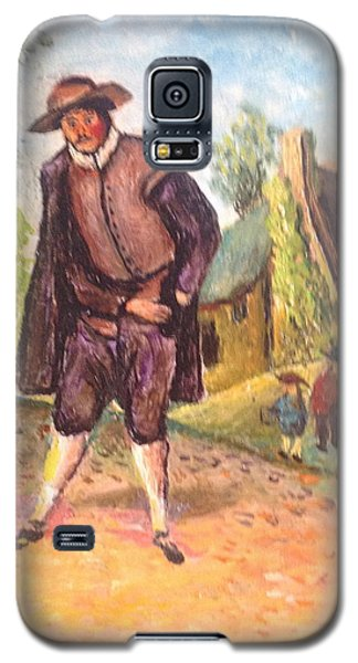 Galaxy S5 Case featuring the painting Village Man  by Egidio Graziani